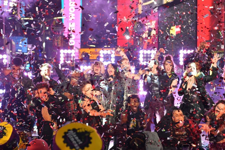 Alanis Morissette and the Jagged Little Pill cast perform during Dick Clark's New Year's Rockin' EveNew Year Celebrations, New York, USA - 31 Dec 2019